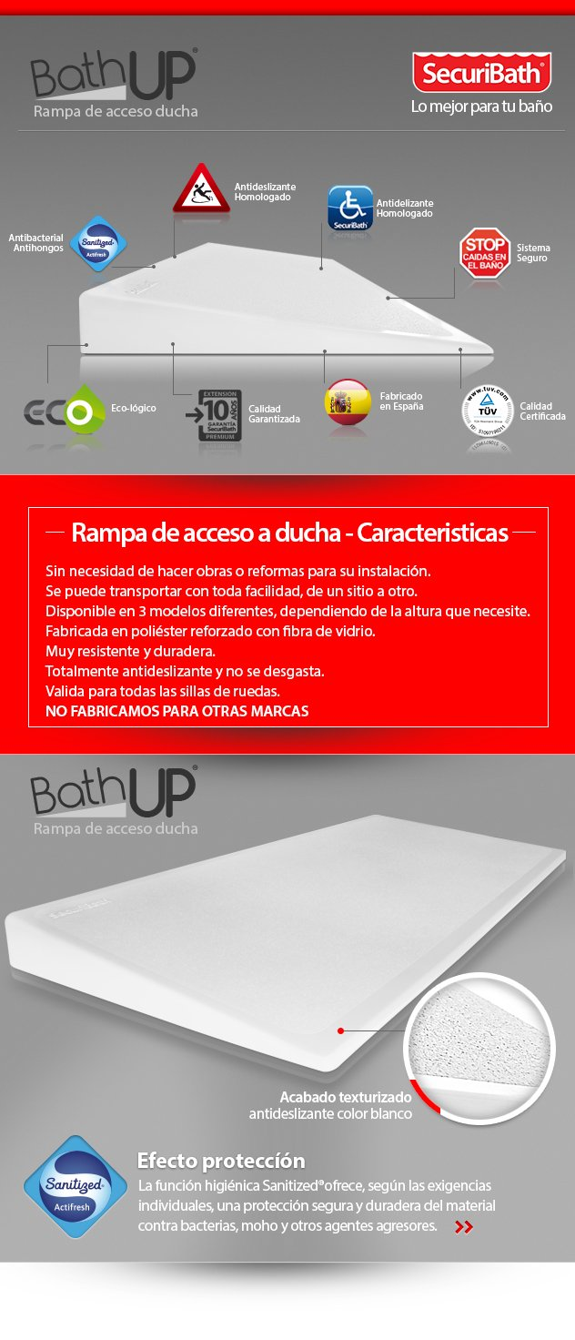 Rampa de acceso bath up securibath